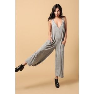 Azalea knit relaxed jumpsuit - heather grey